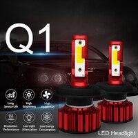 Mini H4 LED H11 9006 led bulb h1 9005 H7 led canbus Q1 Car Headlights 12V 72W 8000LM/Set Error Free 6000K light