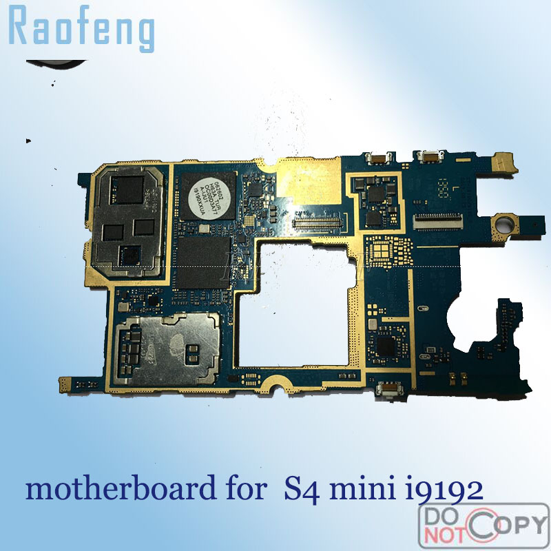 Raofeng Unlocked for Samsung galaxy S4 mini i9192 motherboard 8gb   whole function mainboard with full chips Logic Board(China)