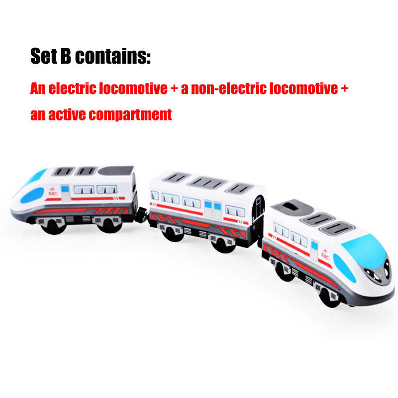 Electric Train Toys Magnetic Electric Train High-speed Rail Compatible With  Thomas Train Tracks and All Kinds Of Wooden Railway