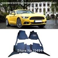 For Ford Mustang 2015 2016 2017 2 Door Interior Durable Auto Waterproof Custom Car Floor Mats