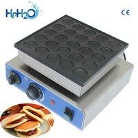 CE approved 110V/220V commercial 25 hole Dorayaki Pancake Maker mini pancake machine cast iron poffertjes pan with 25 dimples