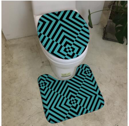 Fantastic Us 13 34 8 Off Black White Stripes Geometric Cow Skin Pattern Minimalist Bathroom U Type Toilet Mats Seat Cover Pad Absorbent Mat Machine Wash In Gamerscity Chair Design For Home Gamerscityorg