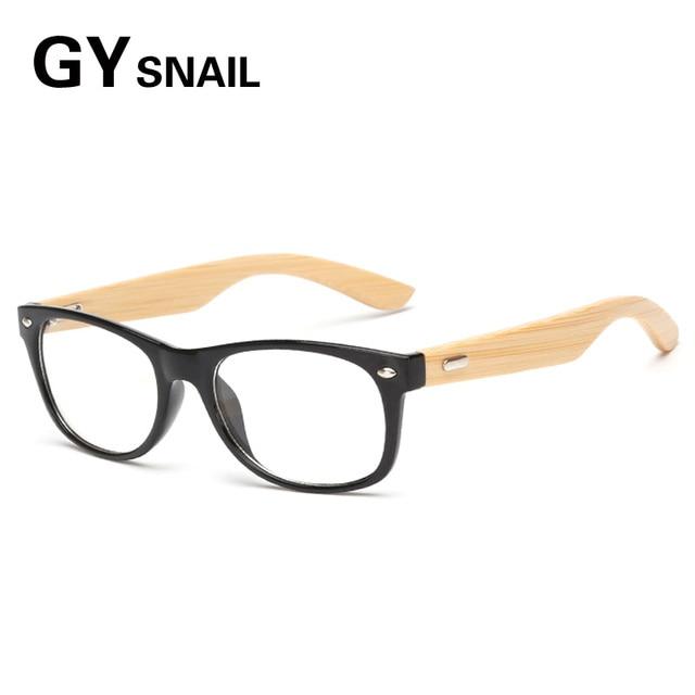 402235612fd62 GY moda natural De Madeira Óculos De Sol dos homens lente Transparente  óculos de Bambu de