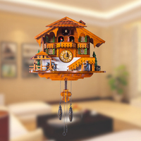 Creative Living Room Wall Clock Modern Design Wood Watches Cuckoo Clocks Relogio Parede Time Reloj Pared Household Goods 60A0861
