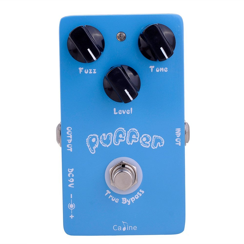 Caline CP-11 Puffer Fuzz Guitar Effect Pedals True Bypass with High Quality Jacks and Foot Switch Guitar Pedal Effect Pedal mooer ensemble queen bass chorus effect pedal mini guitar effects true bypass with free connector and footswitch topper
