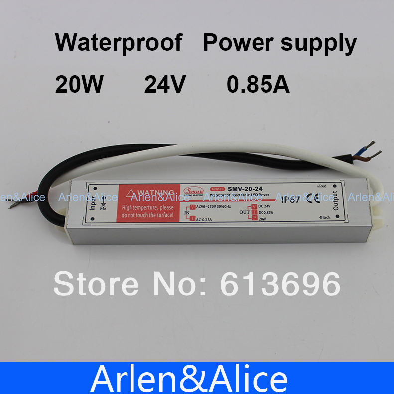 20W 24V 0.8A Waterproof outdoor Single Output Switching power supply for LED Strip light ac to dc 1200w 48v adjustable 220v input single output switching power supply for led strip light ac to dc