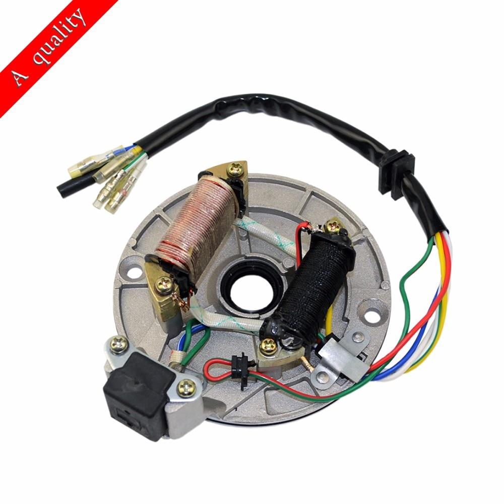 hight resolution of magneto stator plate rotor 50cc 70cc 90cc 110cc 125cc pit bike yamaha stator test 110cc stator wiring 4