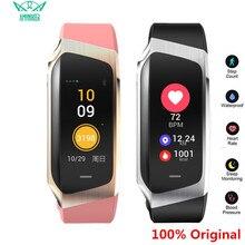 Amynikeer e18 pulseira inteligente monitor de freqüência cardíaca fitness rastreador ip67 à prova dip67 água esportes relógio para android e ios relógio inteligente homem