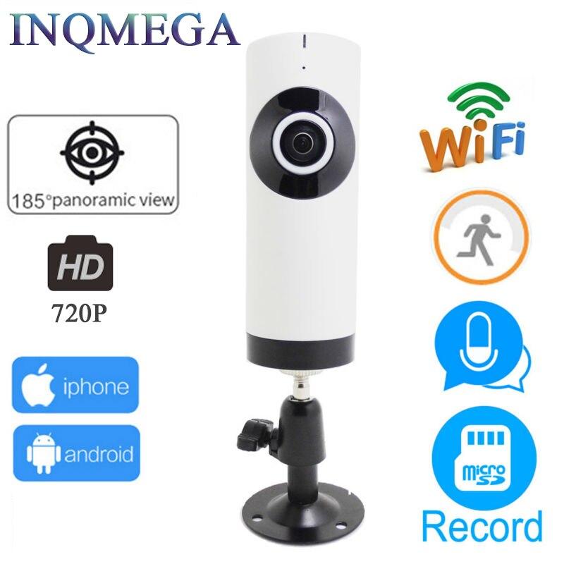 INQMEGA Wifi Camera 720P Panoramic 185 Fish Eyes Lens Degree Lens Home Security IP Camera Wireless Cam CCTV Camera Baby Monitor 185 degree fish eyes lens ir night vision 720p cmos wireless ip camera