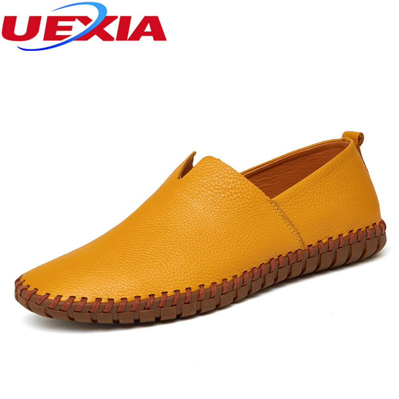 Big Size 47 High Quality Men Shoe Fashion High top Casual Mens Shoes Breathable Soft Leather Moccasins Loafers Slip On Plus Size gram epos men casual shoes top quality men high top shoes fashion breathable hip hop shoes men red black white chaussure hommre