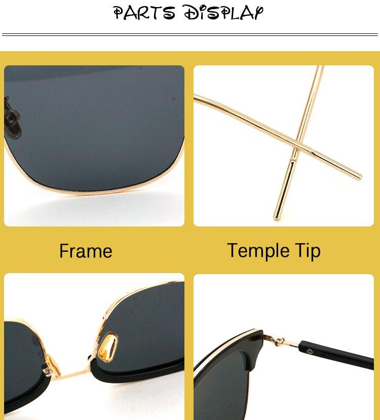Vintage Metal Half-Rim Sunglasses Women 2018 Tidien Retro Plastic Mirror Shopping Fishing Ray Classic Sun Glasses Women 1319 (6)