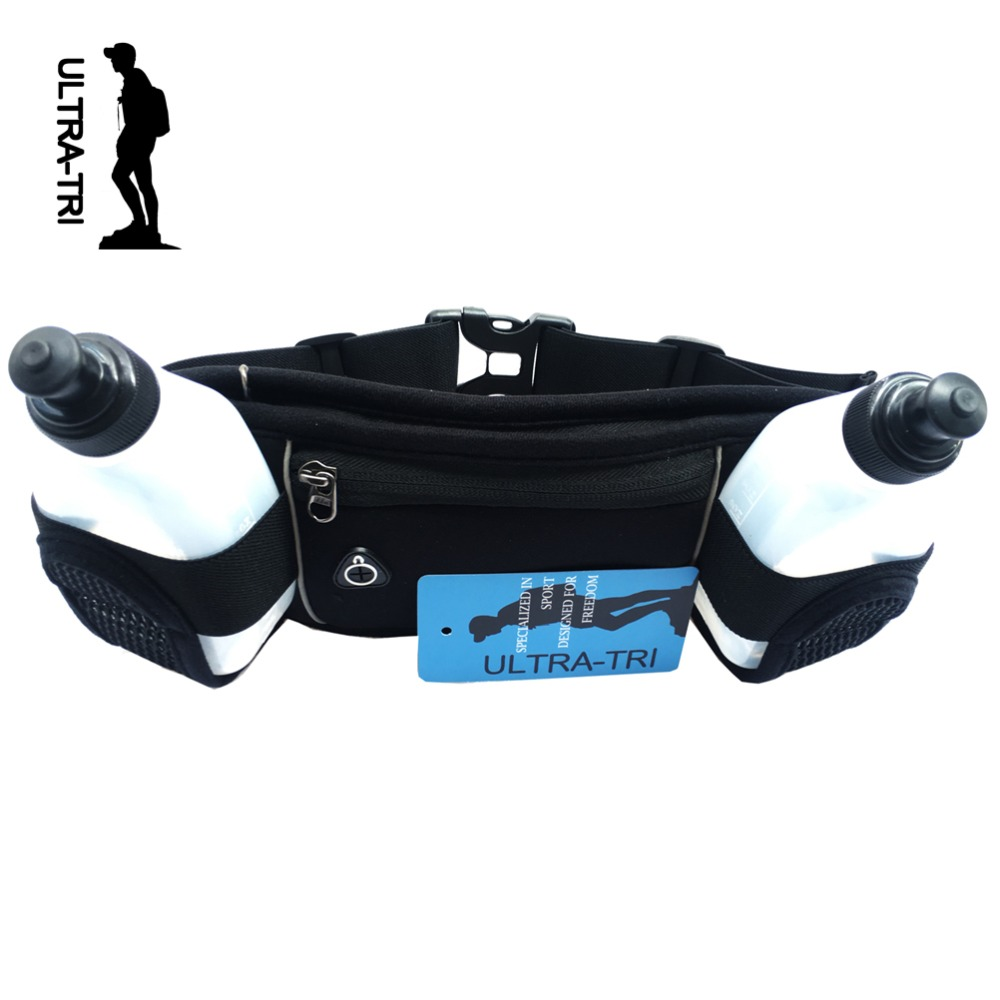 ULTRA-TRI Lightweight Hydration Running Belt Bag Outdoor Sports Trail Run Marathons Hiking Cycling Pack Black