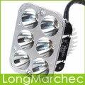 DC 12 V 18 W 6 LED de Luz Blanca Luces de Ahorro de Energía de la linterna Del Faro Delantero de La Motocicleta Universal Para Todos Los Tipos