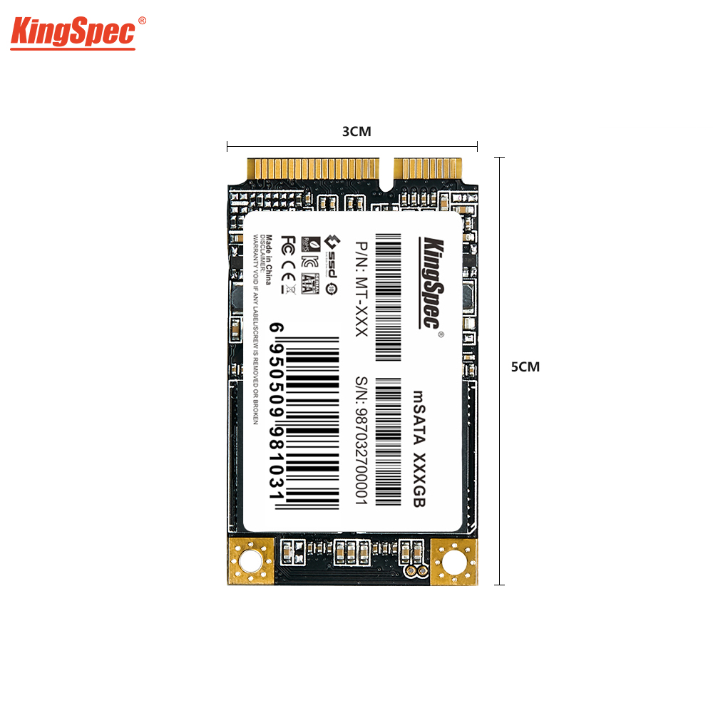 KingSpec MSATA SSD 120gb 256GB 512GB Mini SATA SSD MSATA SSD 1tb Internal Hard Drive For Computer Laptop SSD For Dell ThinkPad(China)