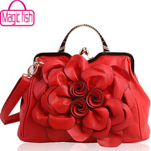 Magic fish! women handbag for women bags leather handbags brands women's pouch bolsas national style flower bag clutch LS4996mf