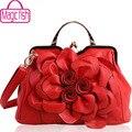 Peixe mágica! marcas de bolsa para as mulheres sacos de bolsas de couro das mulheres bolsa das mulheres bolsas saco de embreagem flor estilo nacional LS4996mf