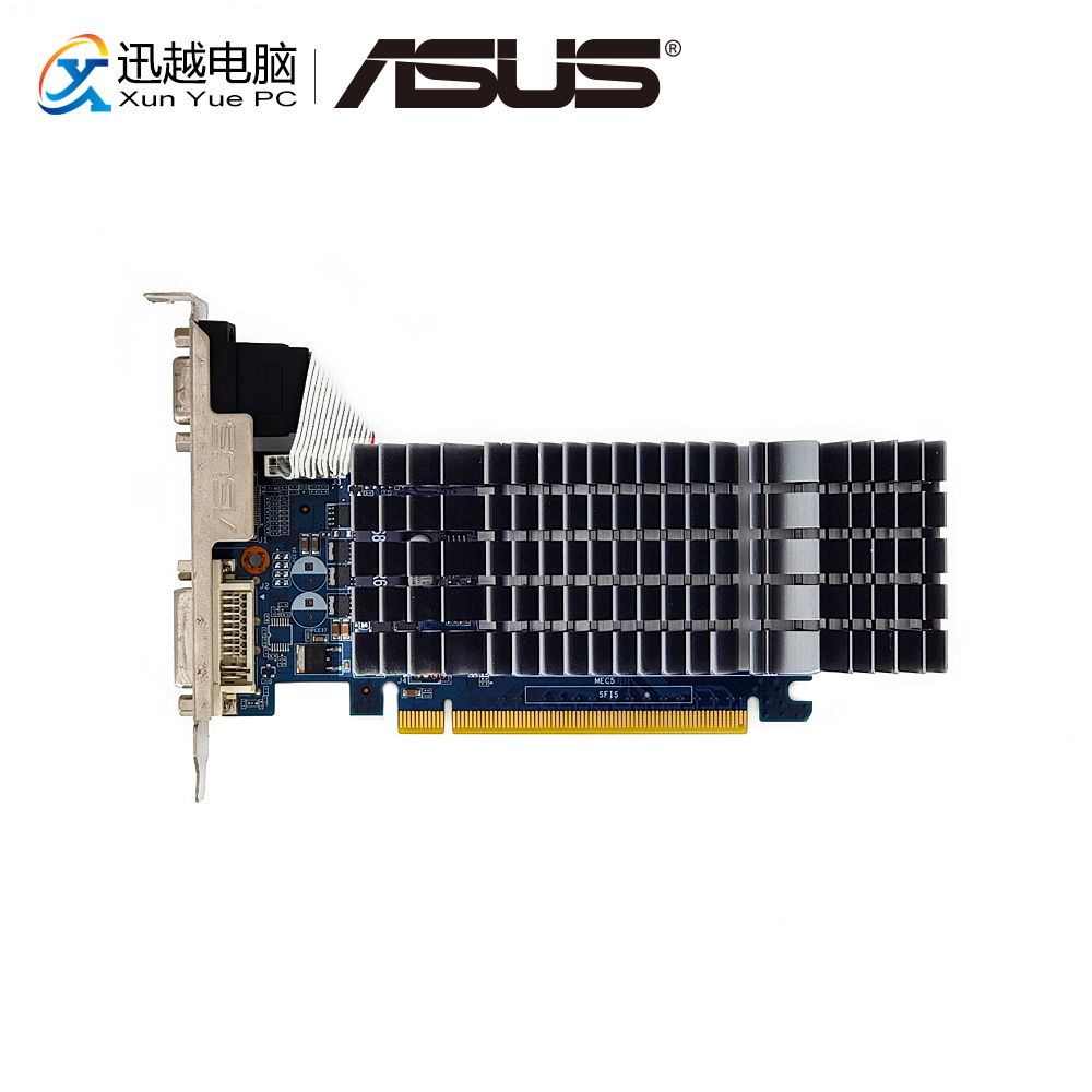 ASUS GT 520 1GB GDDR3 Original Graphics Cards ENGT520 SILENT/DI/1GD3(LP) Video Card VGA DVI HDMI For Nvidia Geforce GT520 usa znse co2 laser lens 28mm dia 95 25mm focus for co2 laser for laser engrave and cutting machine