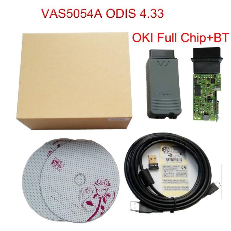 2018 Date Vas5054A ODIS V4.33 Outil De Diagnostic pour VW VAS 5054A OKI Puce Bluetooth Soutien UDS avec Multi-Langue Top Qualité
