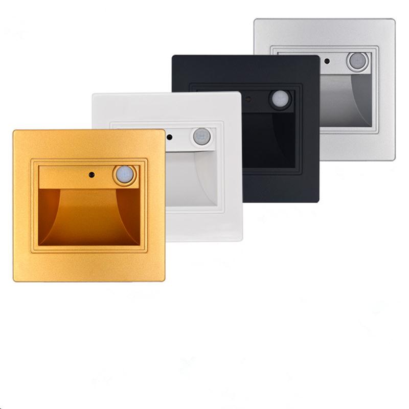 Lighting Basement Washroom Stairs: PIR Motion Sensor Led Stair Lights Recessed Wall Sconce