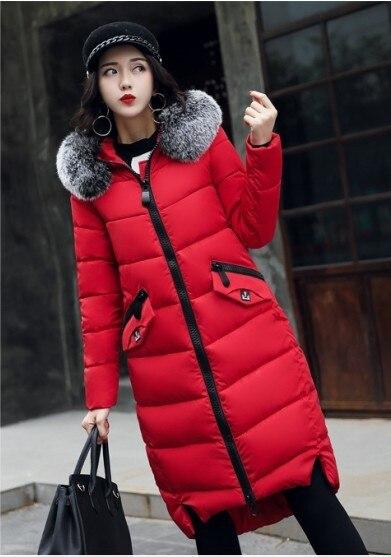 1b948b5ba4b New brand women down cotton jacket black gray pink women's winter coats  super warm waterproof windproof fur hooded long parkas