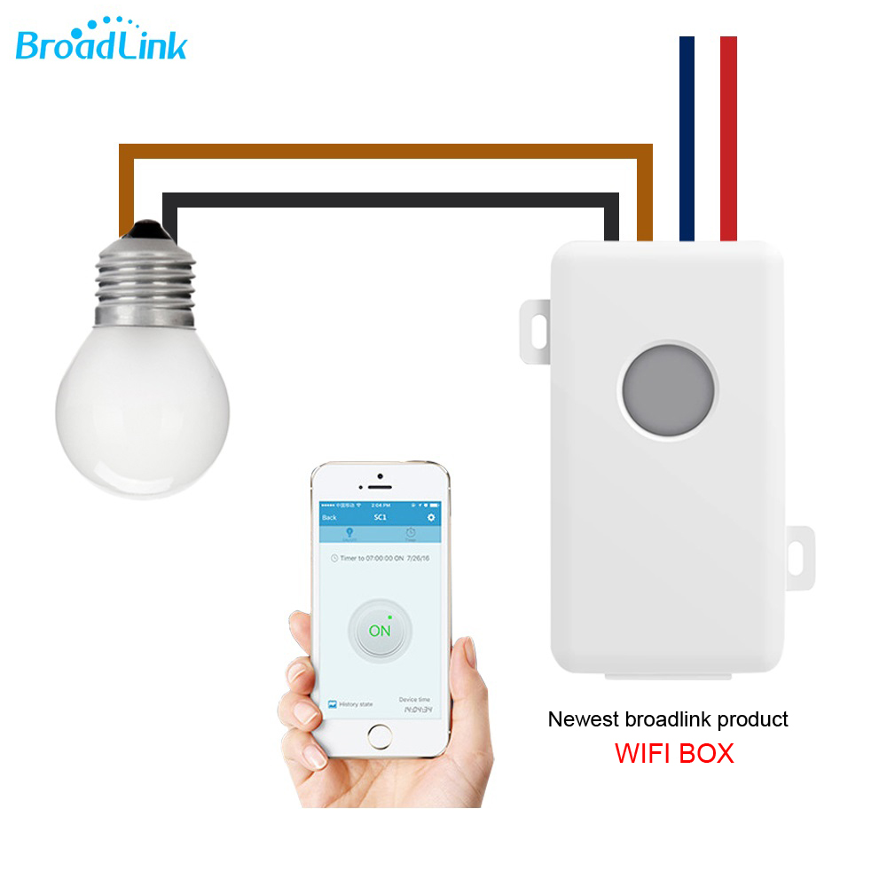 Broadlink SC1 luz inteligente temporizador de control remoto inalámbrico WiFi interruptor de relé compatible ios android Smart Home Automation