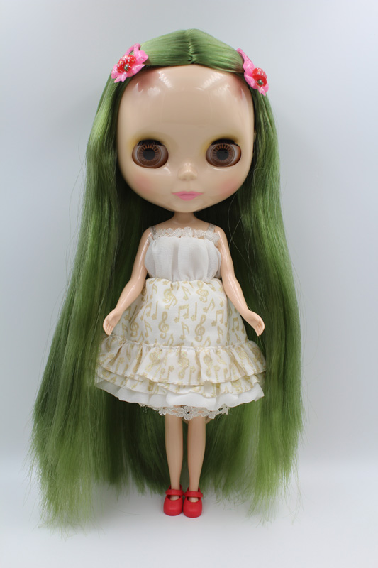 Free Shipping big discount RBL-290DIY Nude Blyth doll birthday gift for girl 4colour big eyes dolls with beautiful Hair cute toy