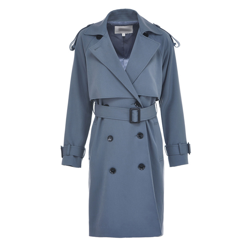 2019 Autumn Woman Classic Double Breasted Trench Coat Waterproof Raincoat Business Outerwear