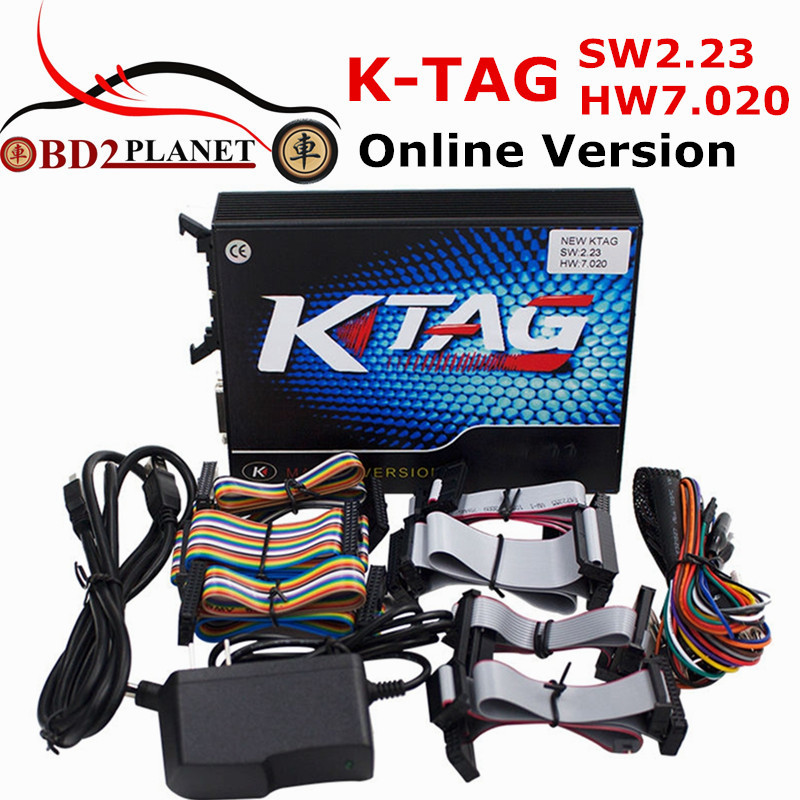 KTAG V7.020 Firmware Unlimited Tokens K TAG V2.23 Online Version Added More Protocols ECU Programmer Tool K-TAG SW 2.23 FW 7.020