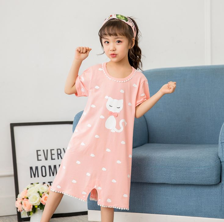 New Listing 2018 Children Clothing Girls Baby Pajamas Cotton Princess Nightgown Kids Home Clothing Girl Sleepwear new 2018 children cloth 3d print autumn sleepwear rn 9 girls baby cotton girl sleepwear dress kids party princess nightgown