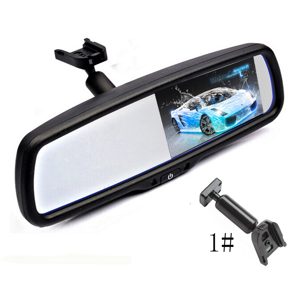 "Parking Assistance System 4.3"" TFT LCD Car Windscreen Rear View Mirror Car Bracket Monitor with 2CH Video Input For Nissan
