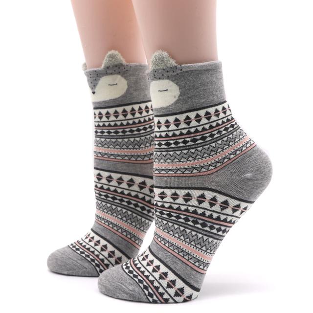 Cute Animal Women Cotton Socks Female Socks Meias 3D Sock Autumn Winter Warm Socks for Lady Girls Sokken Calcetines Mujer