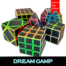 Carbon Fiber Stickers Series Professional Magic Cubes 2x2x2 Pyramid Cube Magico Megaminx Educational Toy for Children Adult