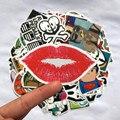 100 Unidades/pacote de música Aleatória filme Vinil Guitarra etiquetas do Skate Viajar Caso adesivo decalque Do Carro Bonito Adesivos moda engraçado adesivo