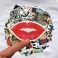 100PCS/Pack Random music film Vinyl Skateboard Guitar Travel Case sticker Car decal Cute Stickers fashion funny sticker