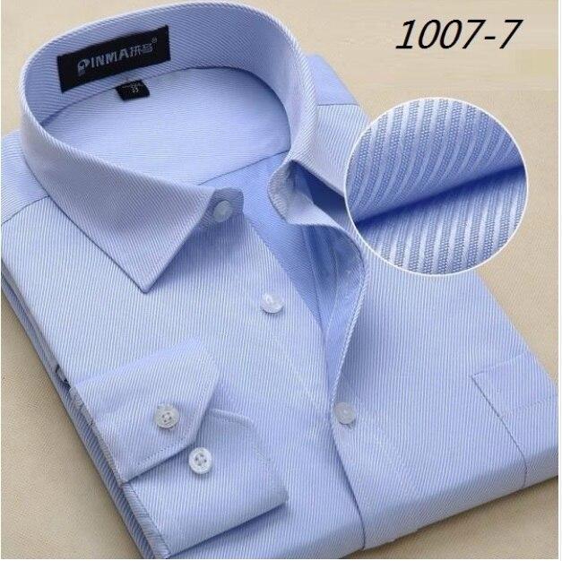 Большой Размер 4XL 5XL 6XL Моды Белый Воротник Полосатый Мужчины рубашки Марка Дизайн Сорочка Homme Высокое Качество Хлопка Бизнес Платье рубашка