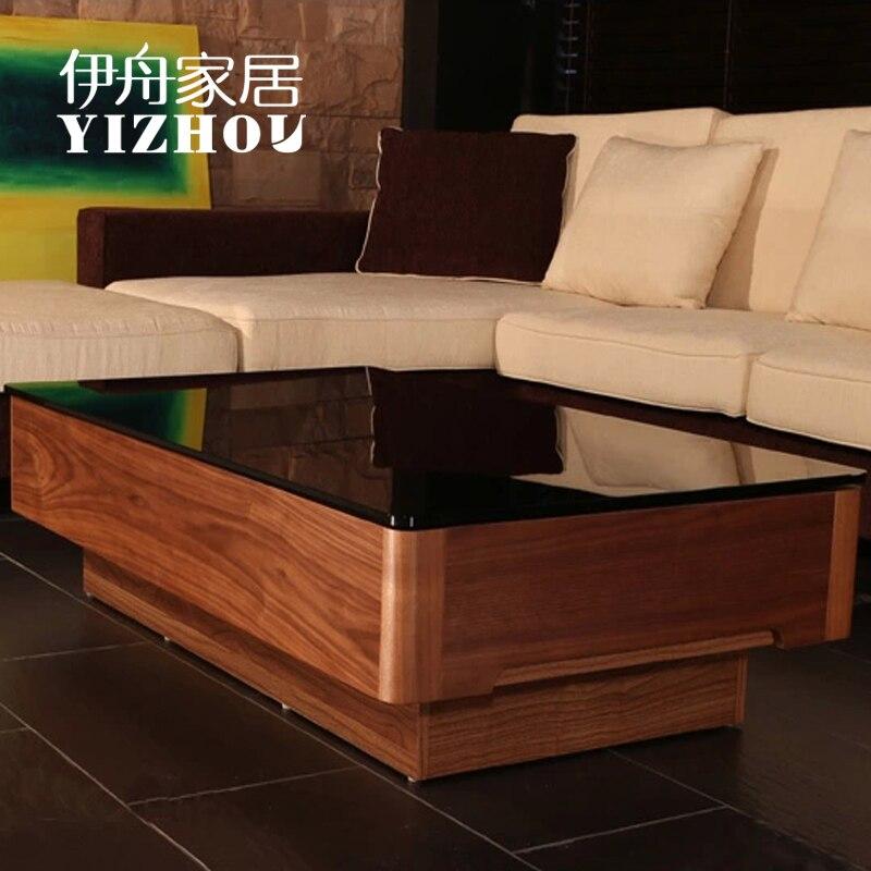 Iraqu barco muebles de madera maciza mesa de centro for Mesa de centro madera maciza