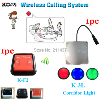 Wireless calling system for restaurant compartment K-F2 100% waterproof bell for client and K-3L room light for waiter