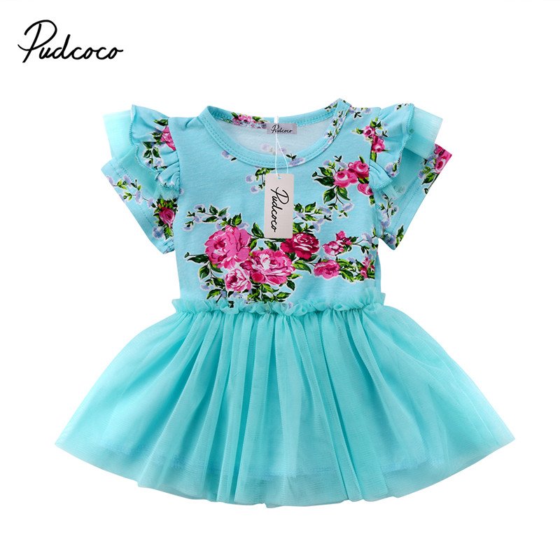 0 to 4T Infant Kids Baby Girls Dress New Style Short Sleeve Floral Dress Princess Party Summer pageant Dresses amazing style girl wedding dress short sleeve with flowers kids party dresses for girls baby infant 1lot 5pcs lh705