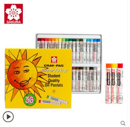 Japan SAKURA Sakura 50/36/25 color oil pastels crayon Student Sakura Sakura 36 colors oil pastels watercolor can be washed