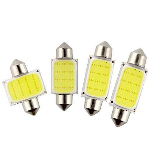 Car Styling 31mm/36mm/39mm/42mm 12V Festoon LED Car Bulb Parking CANBUS C5W COB LED SIZE Interior White SMD Bulb Reading Lights