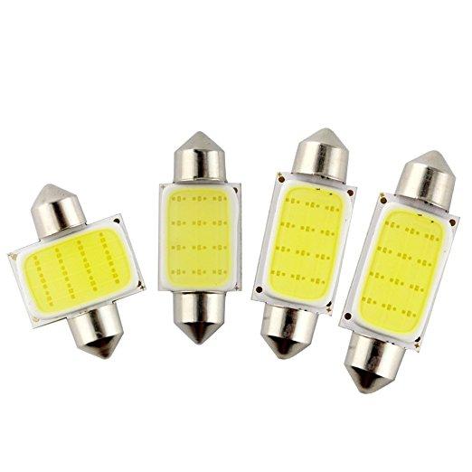 Car styling 31mm/36mm/39mm/42mm 12V Festoon LED Car Bulb Parking CANBUS C5W COB LED SIZE Interior White SMD Bulb Reading lights источник света для авто eco fri led canbus c5w 36 3 smd de3423 6418 3led 12v bmw audi benz