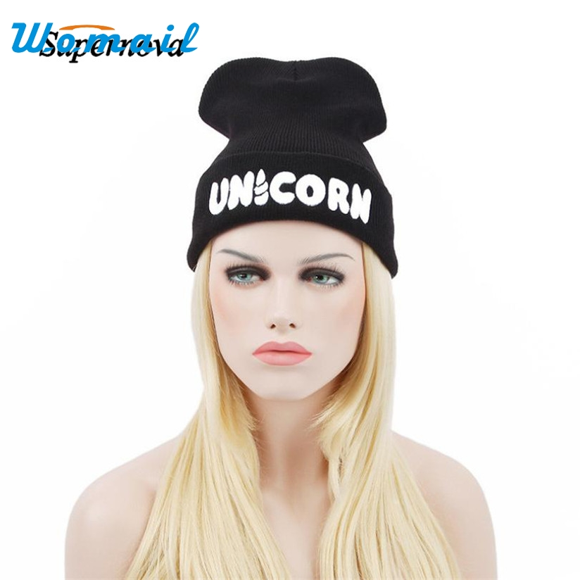 Hot Skullies Beanies Winter Hat pom pom Caps UNICORN Letter For Women Girl Vintage Warm Spring Autumn Hat Female WOct4 2pc skullies