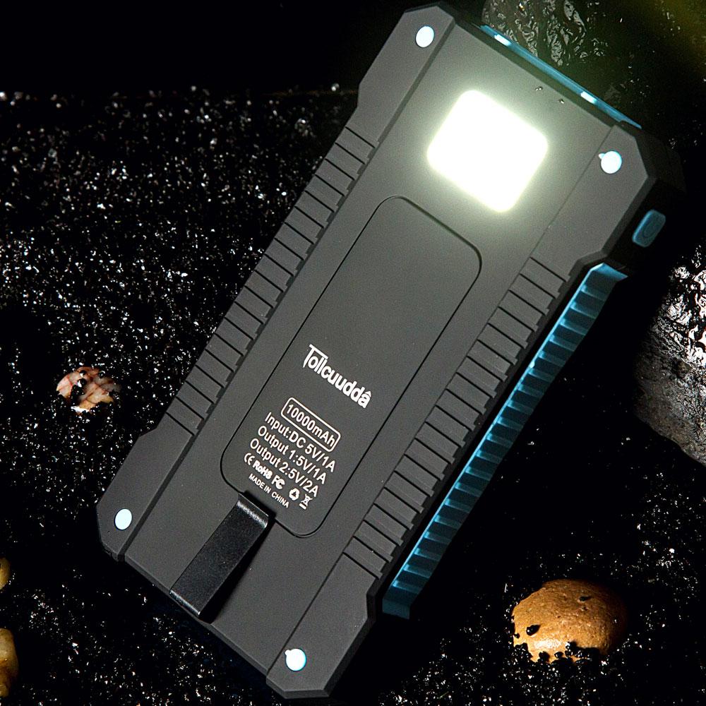 Resistente al agua 10000Mah Banco de energía solar Cargador solar - Accesorios y repuestos para celulares - foto 6