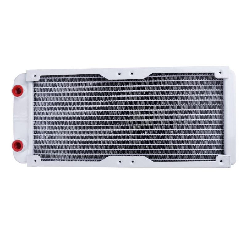 240mm 18 Tube Straight G1/4 Thread Water Cooling Cooler Heat Radiator Exchanger for PC Computer Water Cooling System Wholesale barrow g1 4 female thread straight docking seat tube extend 7 5mm computer water cooling fitting tnyz g7 5