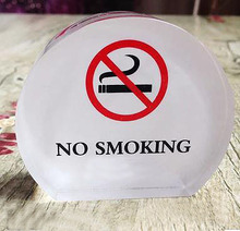 6x5cm No smoking stand acrylic signs Organic glass stand-Thickness:20mm