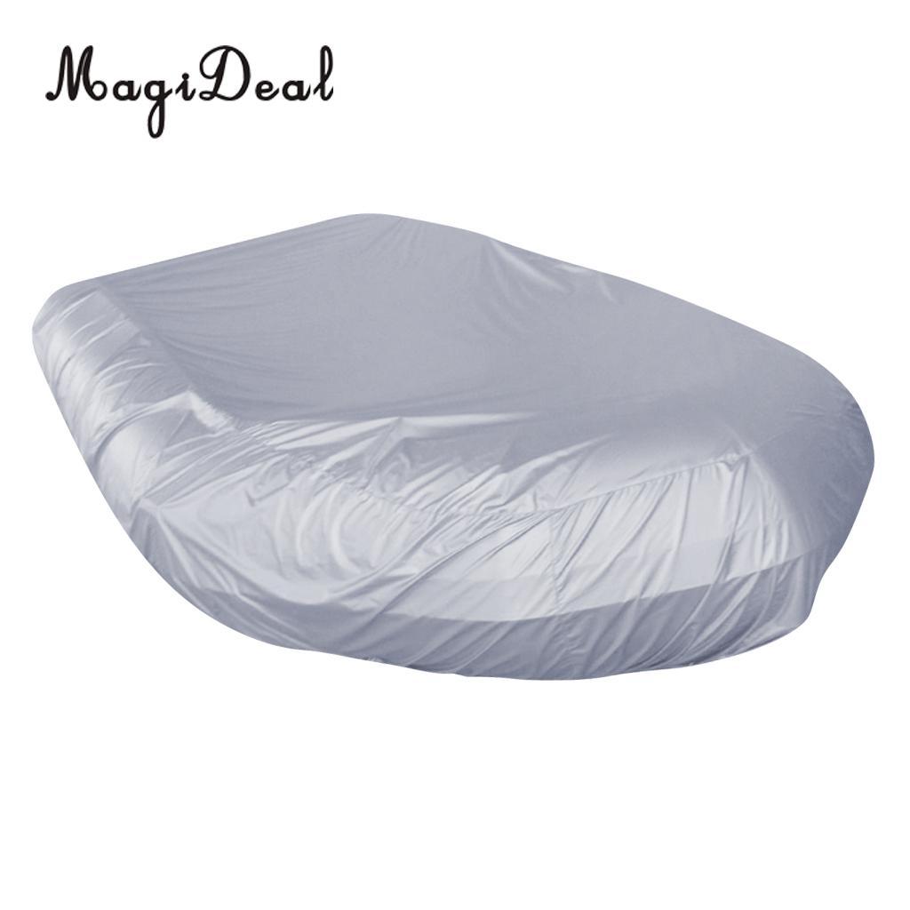 Imperméable à l'eau UV soleil Protection contre la poussière bateau gonflable canot couverture tendre stockage costumes jusqu'à 7.5-17ft-7 tailles disponibles - 5