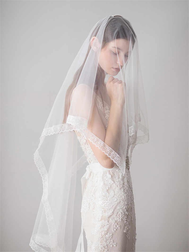 CC Hochzeit Schmuck Lange Haar Schleier Mit Blume Braut Engagement Zubehör Für Frauen Handgemachte Party Romantische Weiß Garn DIY V608
