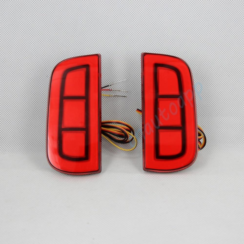 Car Brake Light LED Rear Bumper Warning Lights Running Light Turn Signal Lamp For Honda Civic 2016 led rear bumper warning lights car brake lamp cob running light led turn light for honda civic 2016 one pair