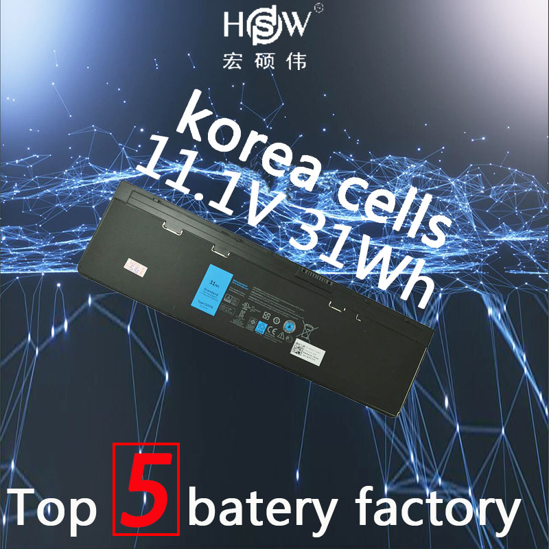 HSW 11.1 v 31WH batterie d'ordinateur portable POUR DELL Latitude 12 7000-E7240 Latitude E7240 Latitude E7250 Latitude E7440 akku
