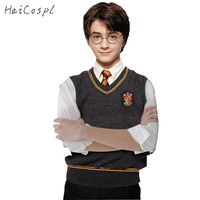 Harry Potter Cosplay Costume Slytherin Hufflepuff Gryffindor Ravenclaw School Uniform Magic Waistcoat V Neck Clothes